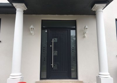 Double rebated fiberglass door