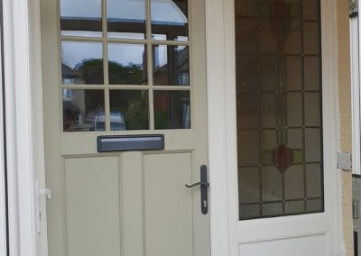 French Grey door with side and top lights  screens