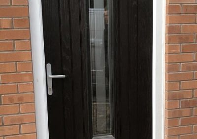Black Fibreglass composite door (seville)