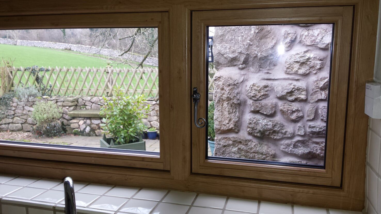 Residence 9 inside upvc oak close up