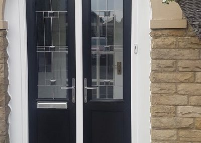arched UPVC french doors