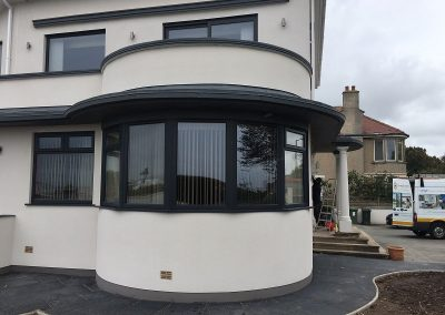 Anthracite grey upcv A rated windows