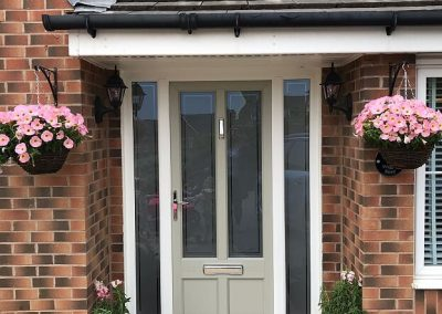 French Grey door with side screens