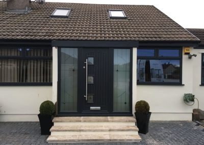 Fibreglass composite door with side screens (paris door)