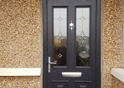 Fibreglass Composite Door with toplight