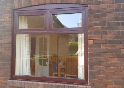 modus upvc rosewood flush sash window