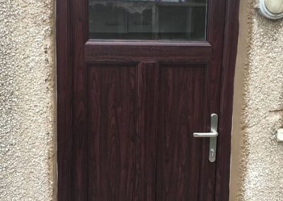 upvc rosewood door