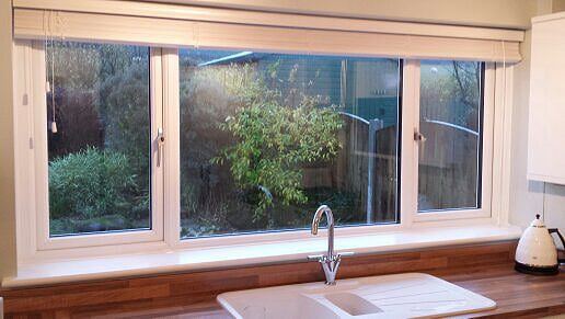 white upvc side opening windows