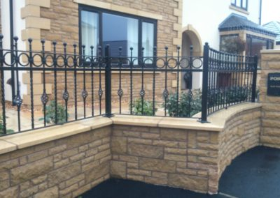 Galvanised and powdercoated steel fencing