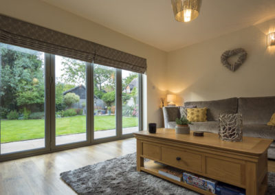 Internal view of Bi Fold doors