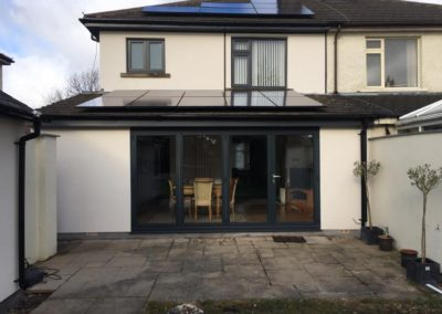 Origin aluminium bi-fold Doors anthracite grey