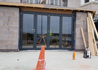 origin bi fold doors aluminion RAL colour 7016 anthracite     grey
