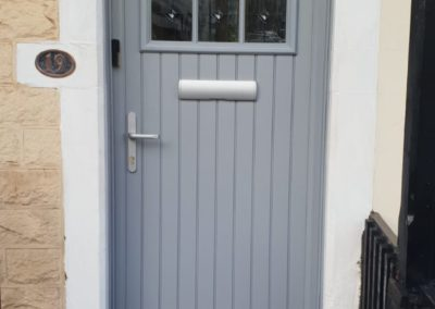 Silver Grey fiberglass composite door
