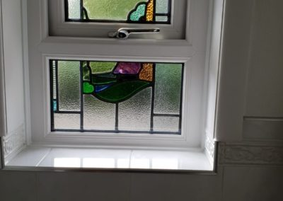 UPVC window with encapsulated leaded lights