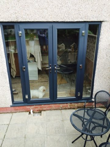french doors and sidescreens anthracite grey
