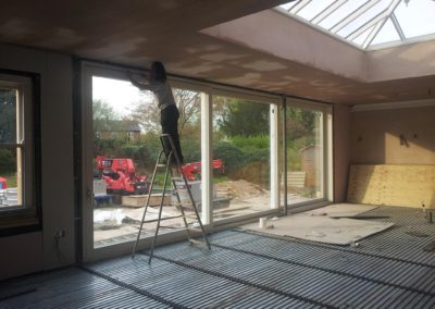 triple track lift and slide door 8 x 2.6m. Roof Lantern