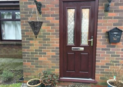 double rebated triple glazed rosewood fiberglass composite door