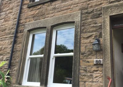 white sliding sash