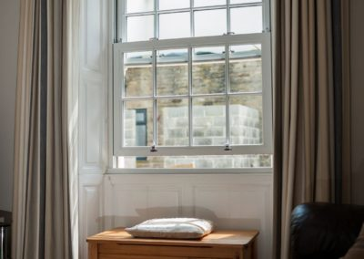 Vertical sliding sash windows inside