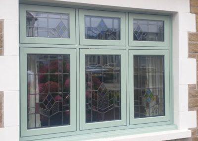 Chartwell Green flush sash windows
