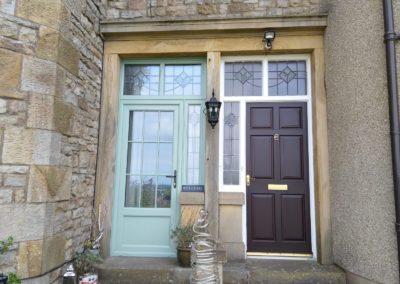 Chartwell Green Suffolk Door & rosewood Suffolk Door